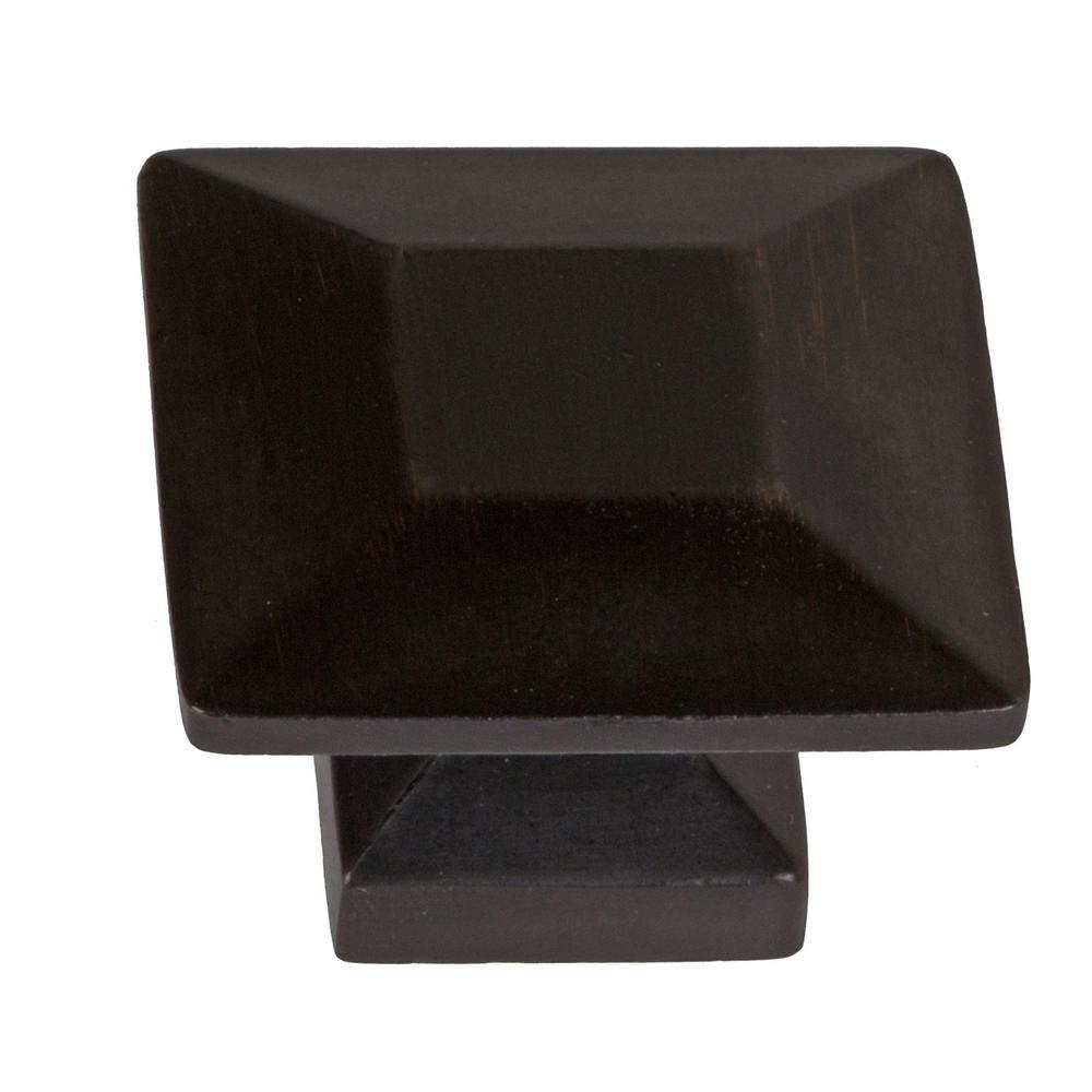 GlideRite 1-3/8 inch Oil Rubbed Bronze Square Cabinet Knob (10-Pack) by GlideRite