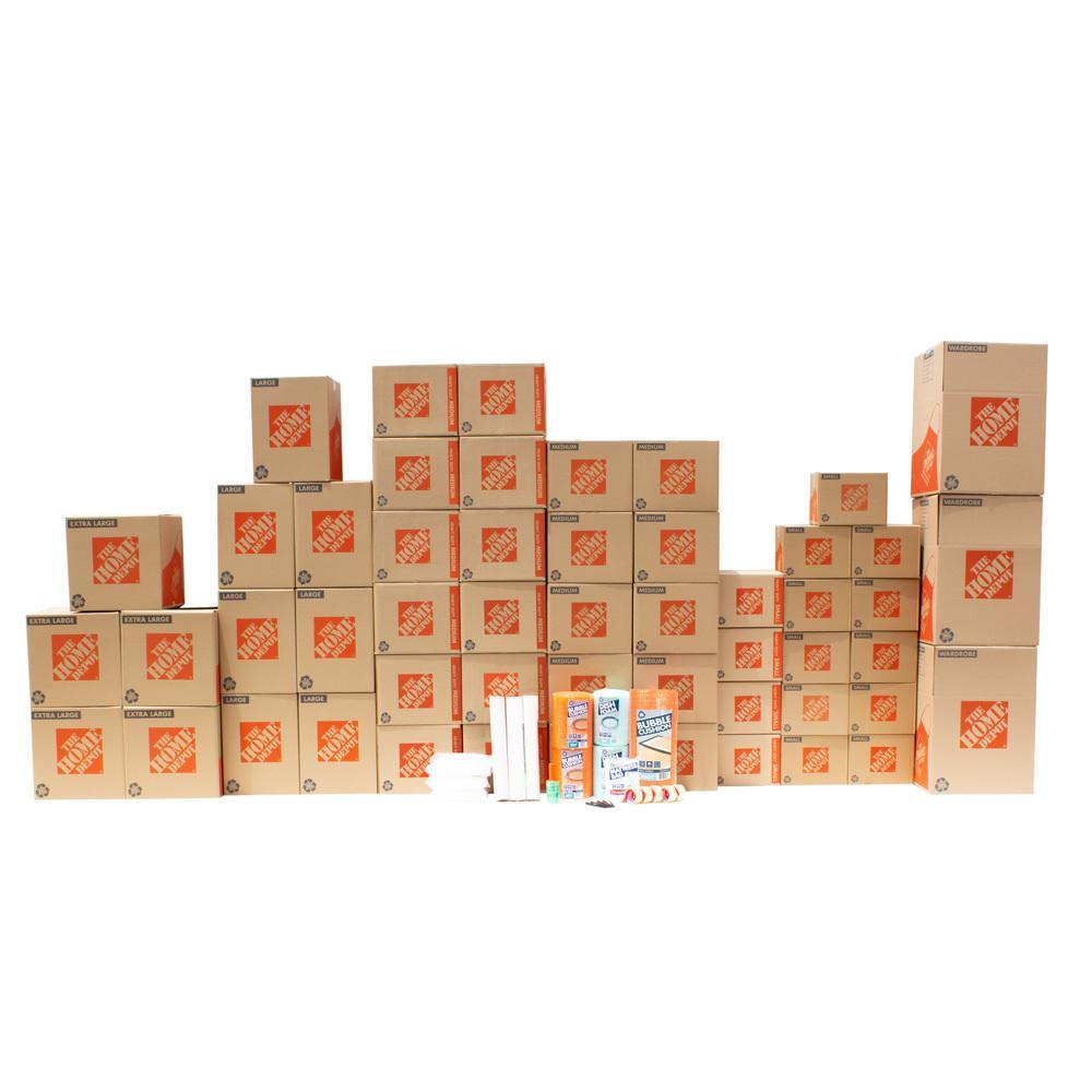 The Home Depot 47-Box 2 Bedroom Moving Box Kit