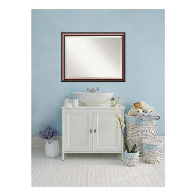 Cambridge Black Mahogany Wood 44 in. W x 34 in. H Single Traditional Bathroom Vanity Mirror