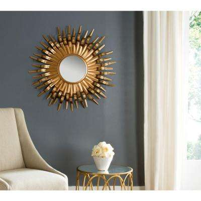 Sun 36 in. x 36. in Framed Mirror
