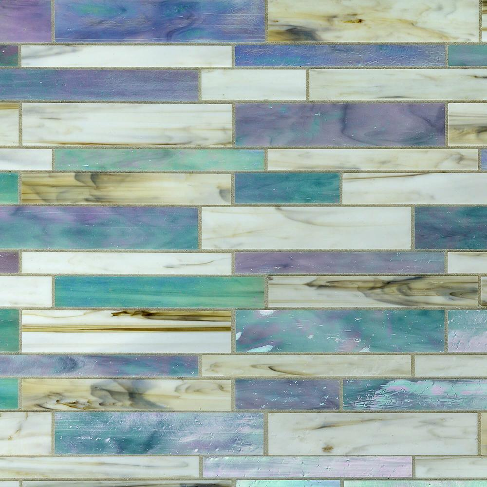 Ivy Hill Tile Matchstix Fate 10 5 In X 10 75 In X 3 Mm Glass Floor And Wall Tile Matchstix