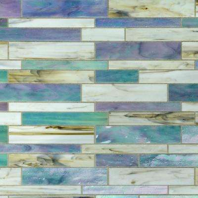 Matchstix Fate 10.5 in. x 10.75 in. x 3 mm Glass Floor and Wall Tile