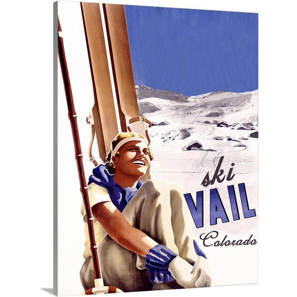 Greatbigcanvas Quot Ski Vail Colorado Vintage Advertising Poster Quot By Great Big Canvas Canvas Wall