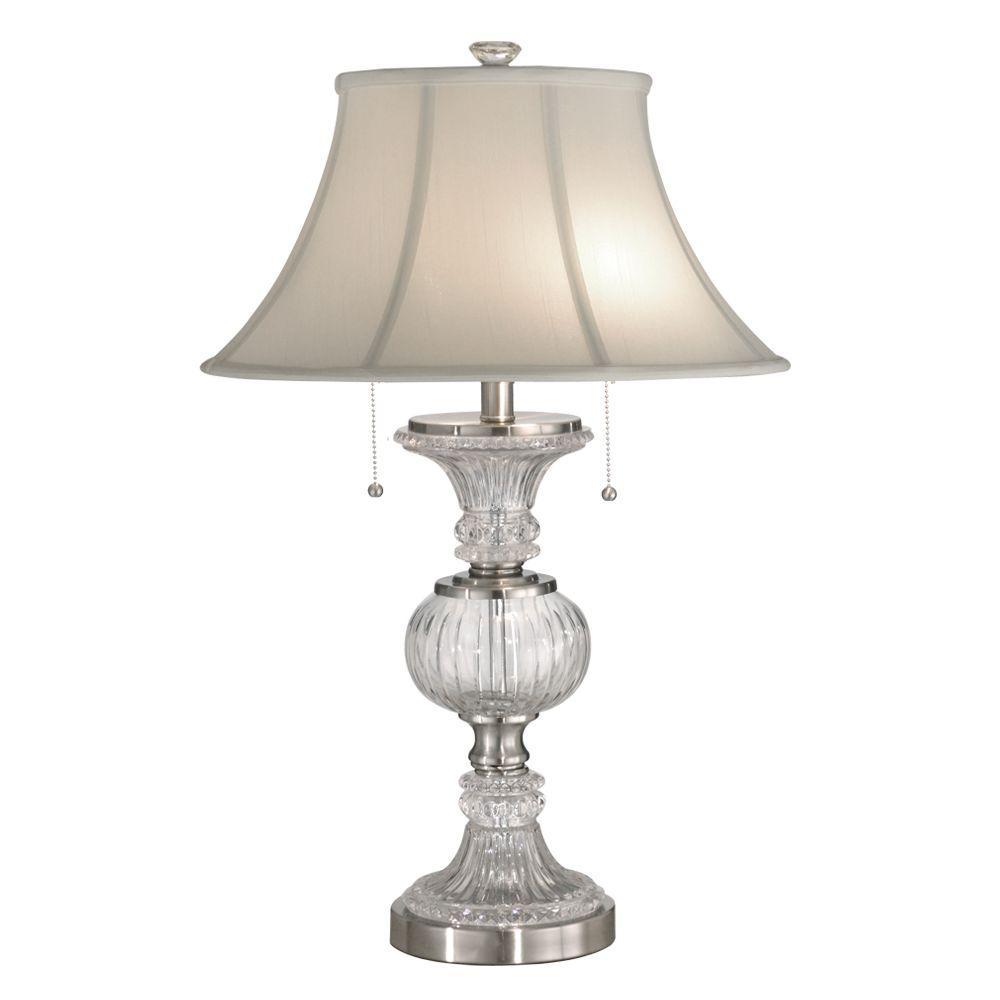 27 in. Granada Brushed Nickel Table Lamp