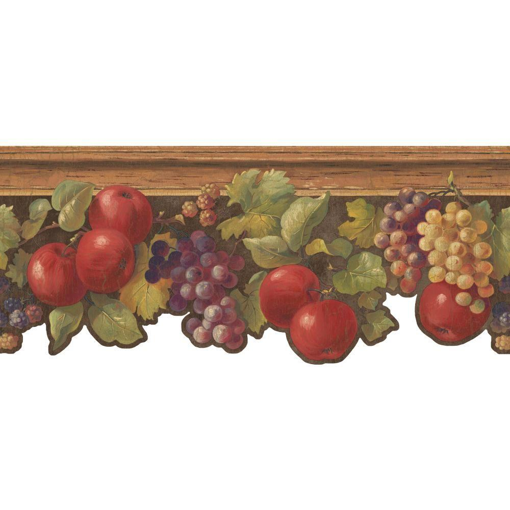 Inspired By Color Fruit & Ivy Wallpaper Border