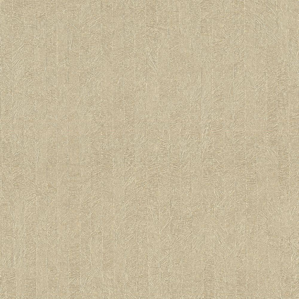 Beyond Basics 60.8 sq. ft. Frost Taupe Texture Wallpaper