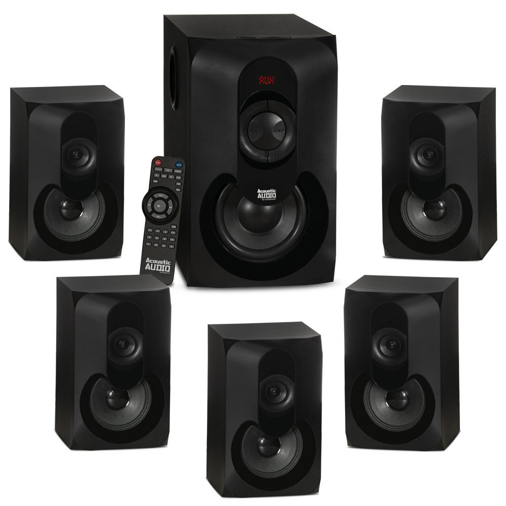 5 1 bluetooth multimedia home theater surround sound speaker system