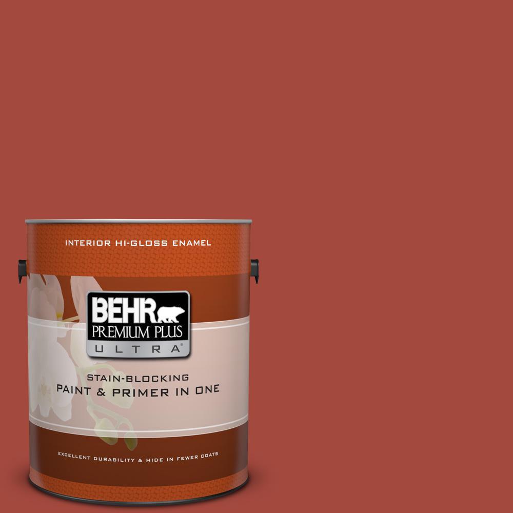 1 gal. #170D-7 Farmhouse Red Hi-Gloss Enamel Interior Paint