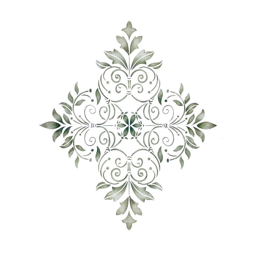 Small Decorative Diamond Wall Stencil