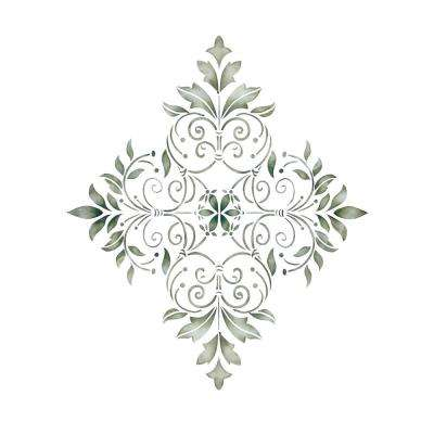Large Decorative Diamond Wall Stencil