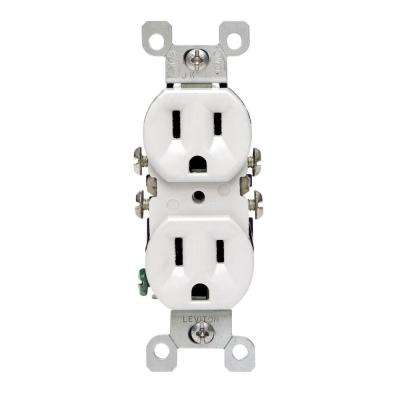 15 Amp Duplex CO/ALR Outlet, White