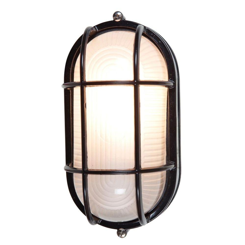 Access lighting nauticus 1 light black outdoor bulkhead light with access lighting nauticus 1 light black outdoor bulkhead light with frosted glass shade aloadofball