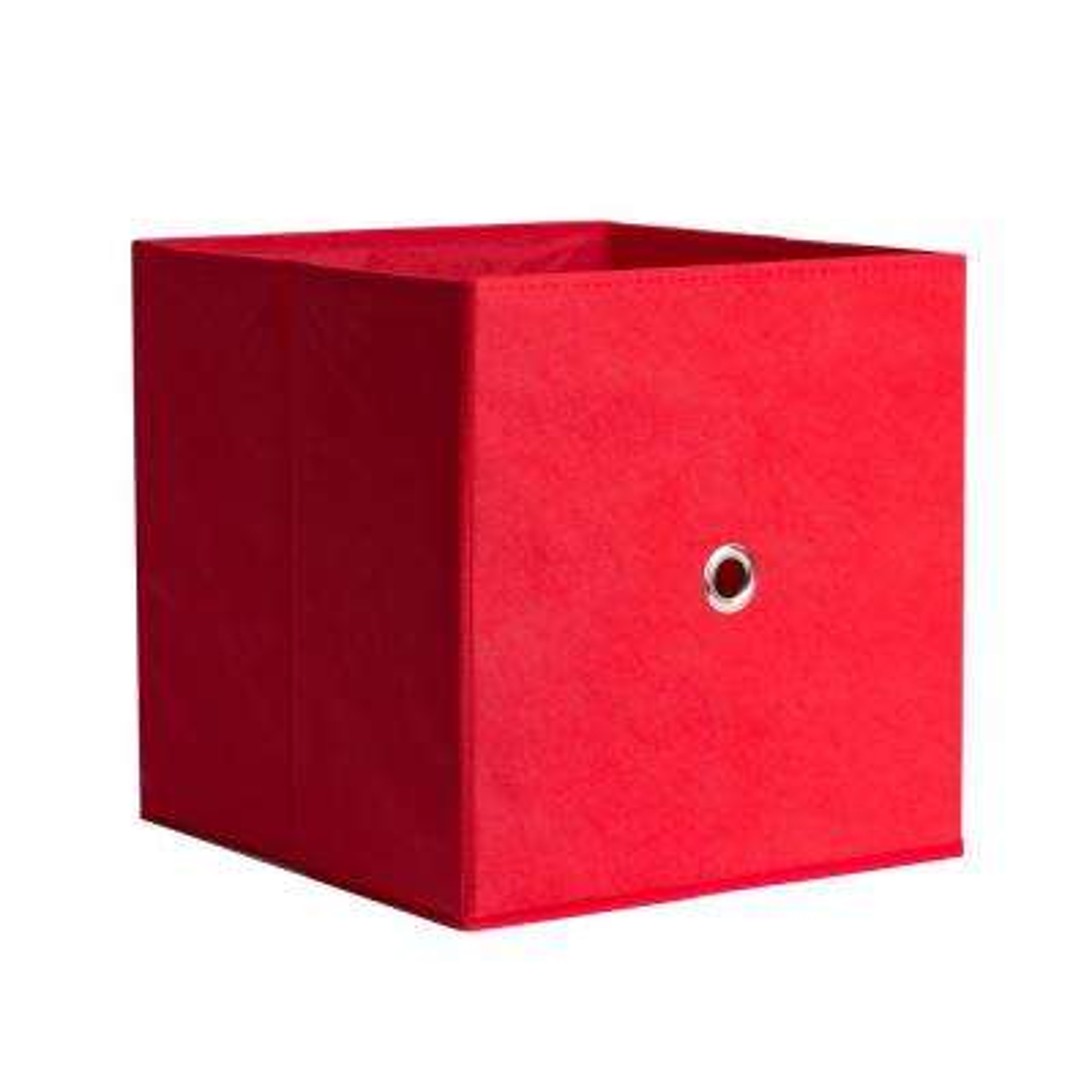 Full Fabric Drawer 12.5 in. x 12.5 in. Red Fabric Storage Bin