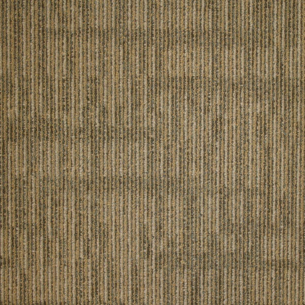 EuroTile Union Square Wheat Loop 19.7 in. x 19.7 in. Carpet Tile (20 Tiles/Case)