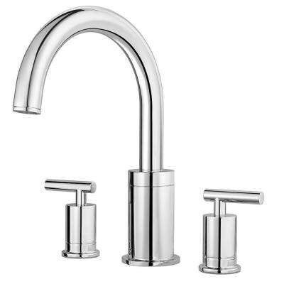 Contempra 2-Handle High-Arc Deck Mount Roman Tub Faucet Trim Kit in Polished Chrome (Valve Not Included)