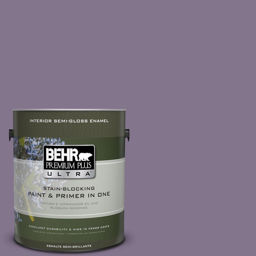 BEHR Premium Plus Ultra 1-gal. #S100-5 Purple Potion Semi-Gloss Enamel Interior Paint