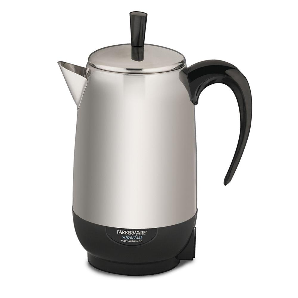Farberware 8-Cup Percolator in Black and Silver-DISCONTINUED