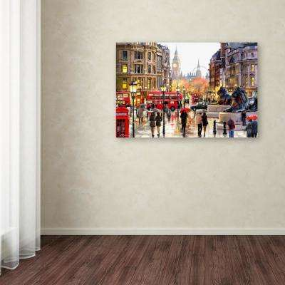 "30 in. x 47 in. ""London Landscape"" by The Macneil Studio Printed Canvas Wall Art"