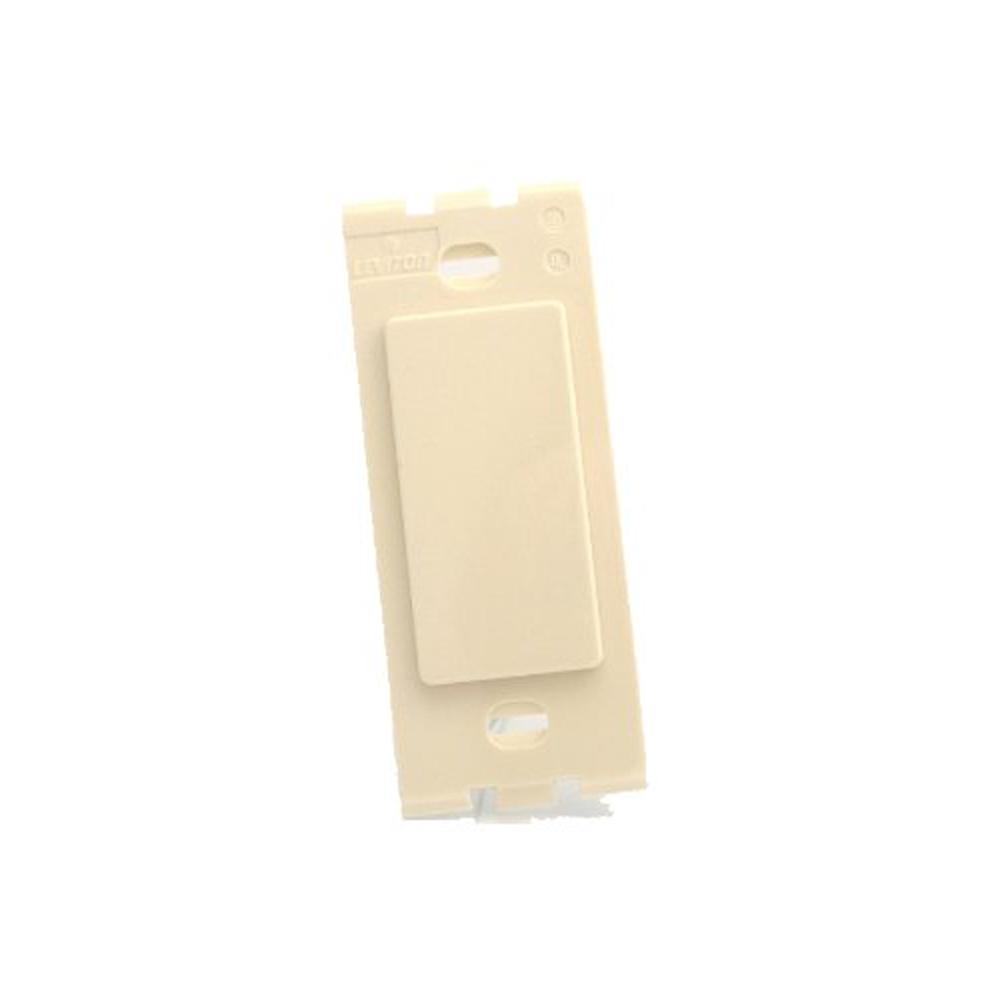 Decora Plus No Hole Blank Plastic Adapter, Light Almond