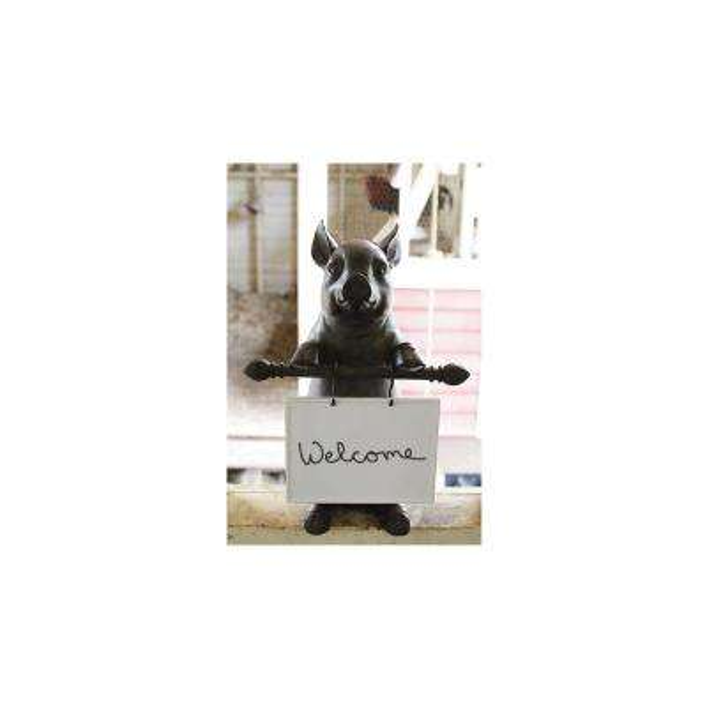 16 in. H x 8 in. W Cochon Ceramic Message Board