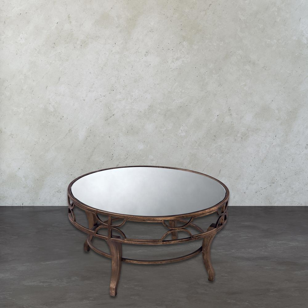 Antique Gold Coffee Table: Titan Lighting Treviso Antique Gold Coffee Table-TN-891347