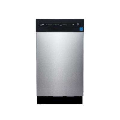 18 in Built-In Dishwasher in Stainless Steel with Stainless Steel Tub