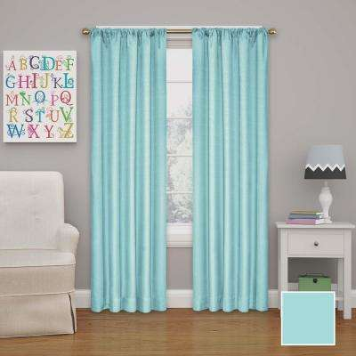 Kendall 54 in. L Polyester Curtain in Pool