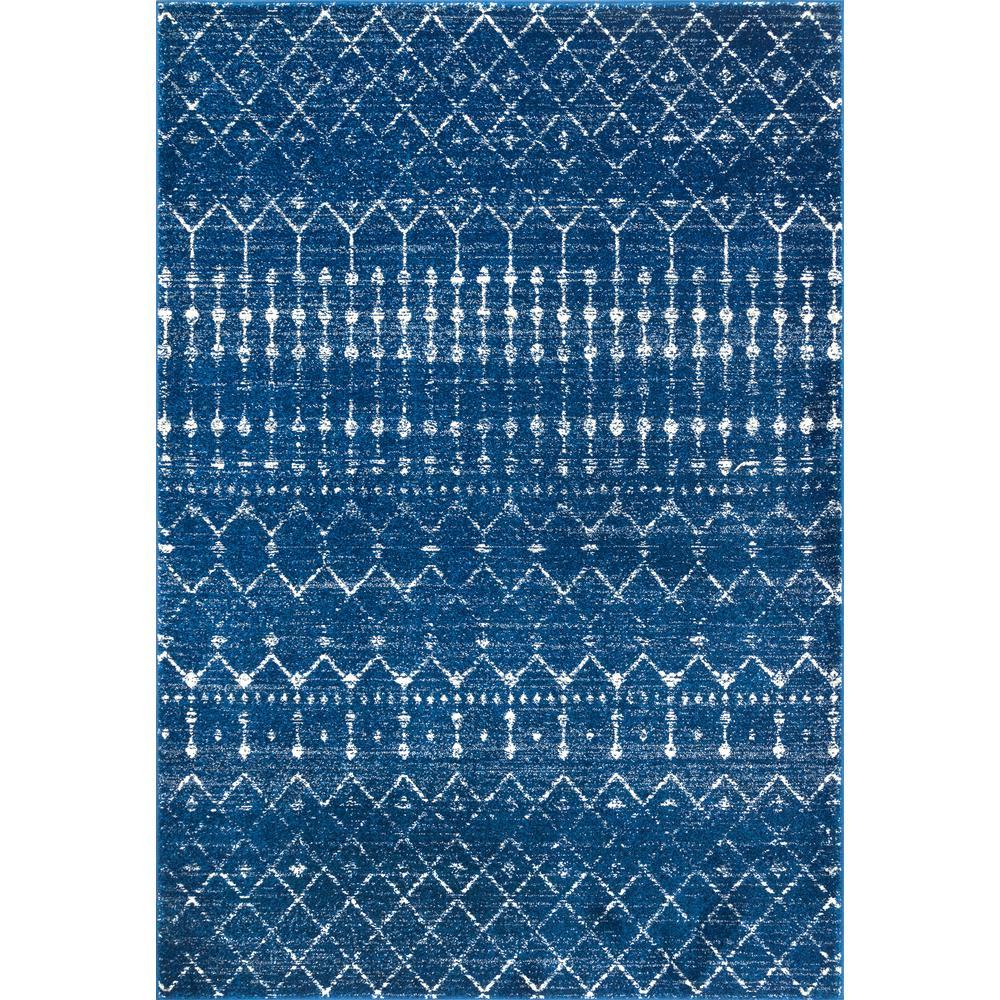 Nuloom Moroccan Blythe Blue 8 Ft X 10 Ft Rug Rzbd16f