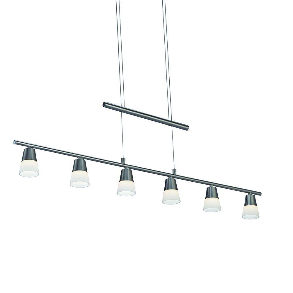 Aerial 6-Light Stain Steel LED Pendant