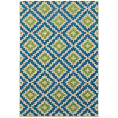 Giana Blue/Green 5 ft. 3 in. x 7 ft. 6 in. Outdoor Area Rug
