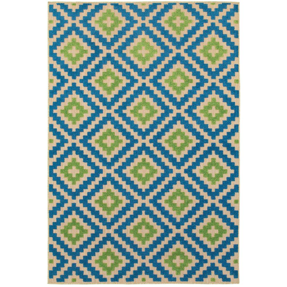 Home Decorators Collection Giana Blue Green 10 Ft X 13 Ft Outdoor Area Rug