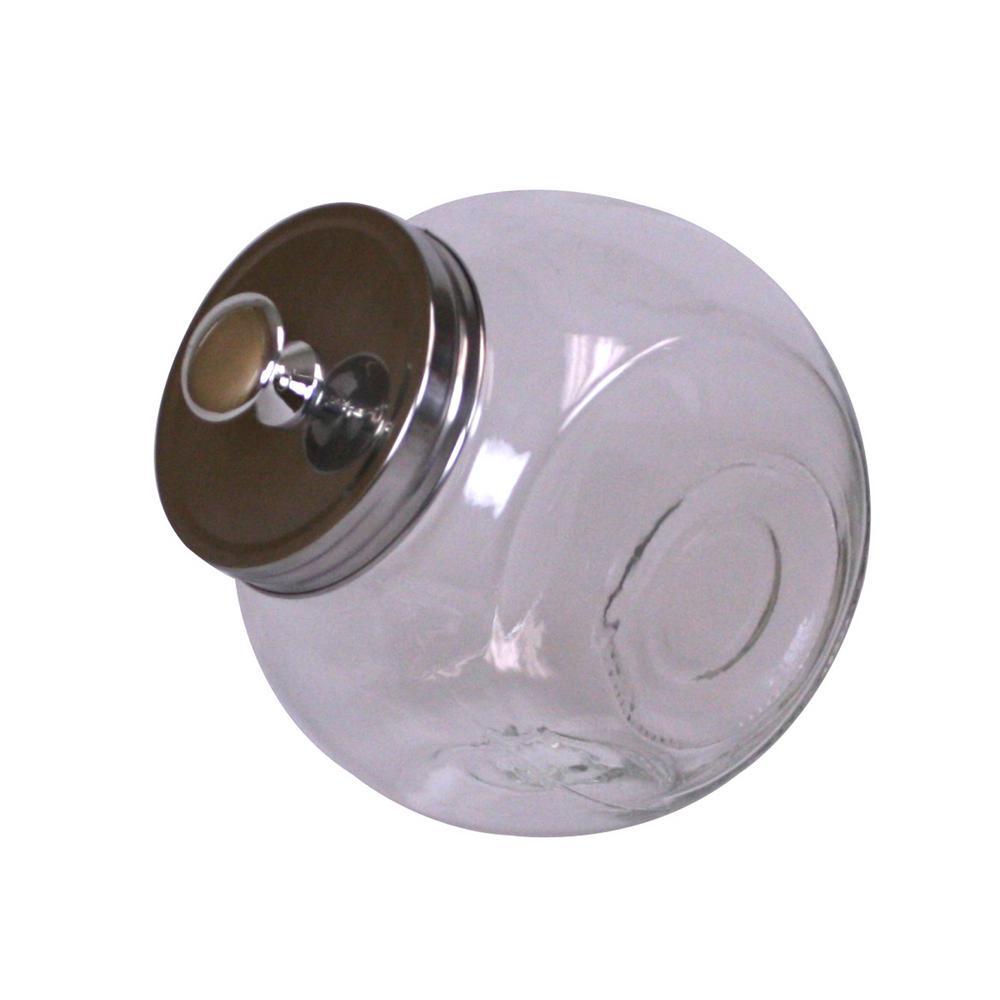 Home Basics 67.5 oz Glass Medium Candy Jar GJ01384