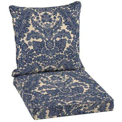 Chelsea Damask Welted Outdoor Dining Seat Cushion Set