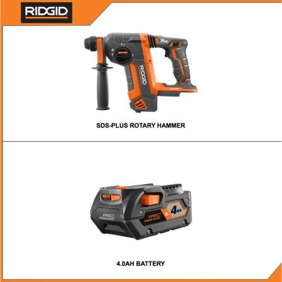 18-Volt OCTANE Cordless Brushless 1 in. SDS-Plus Rotary Hammer with 4.0 Ah Lithium-Ion Battery