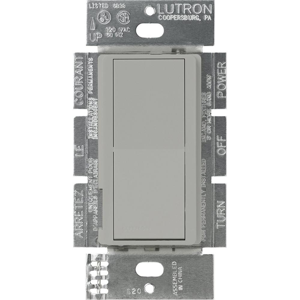 Lutron Claro On/Off Switch, 15-Amp, 3-Way, Gray-CA-3PS-GR - The Home ...