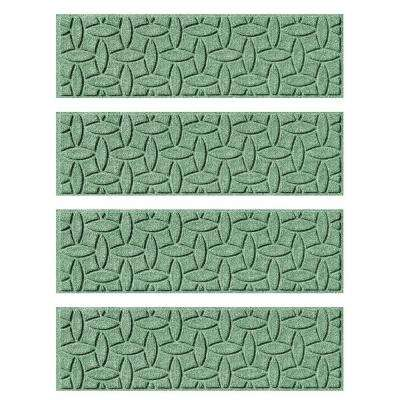 Light Green 8.5 in. x 30 in. Ellipse Stair Tread Cover (Set of 4)