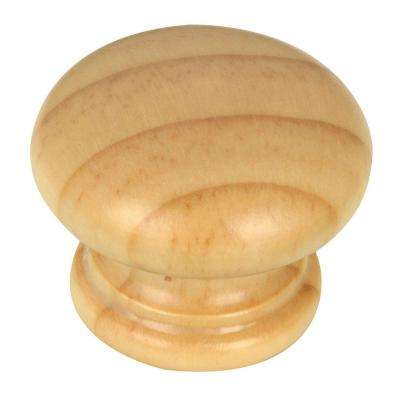 Eclectic 1-1/2 in. (38 mm) Finished Pine Round Cabinet Knob