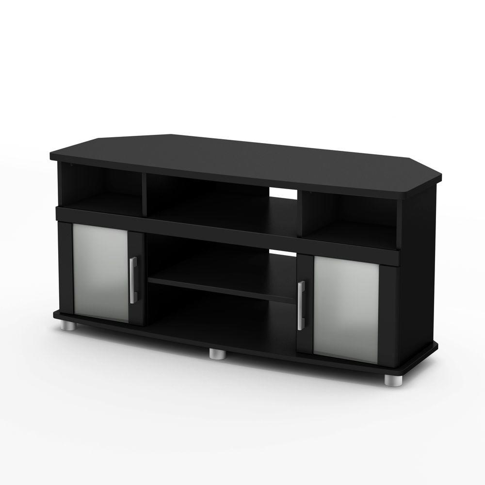 City Life Pure Black Storage Entertainment Center