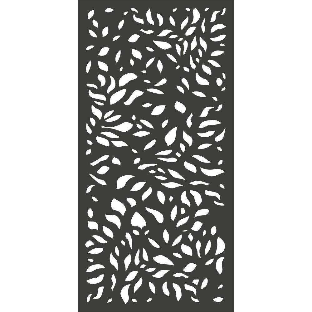 6 ft. x 3 ft. Charcoal Gray Modinex Decorative Composite Fence