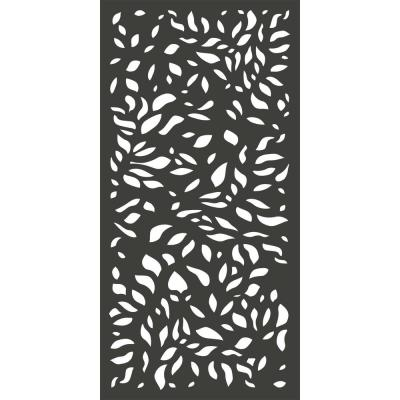 6 ft. x 3 ft. Charcoal Gray Decorative Composite Fence Panel Featured in the Botanical Design