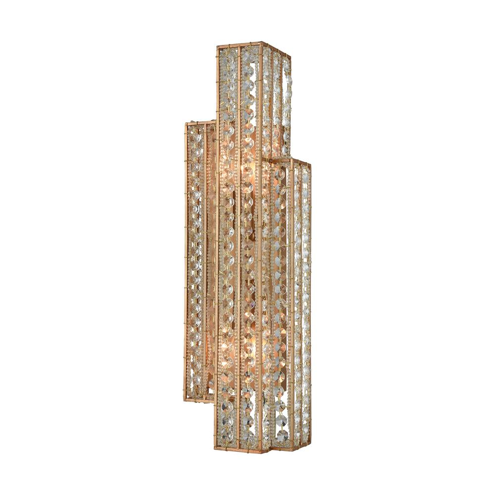 Titan Lighting Lexicon 2-Light Matte Gold With Clear