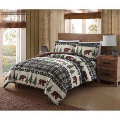 Boucher Woods Green Queen Comforter Set