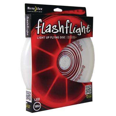 Flashflight LED Light-Up Flying Disc in Red