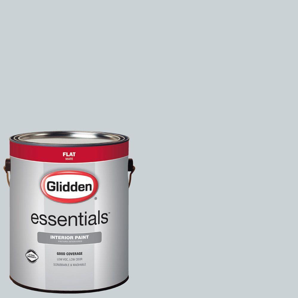Glidden Essentials 1 gal. #HDGCN41 Quiet Rain Flat Interior Paint