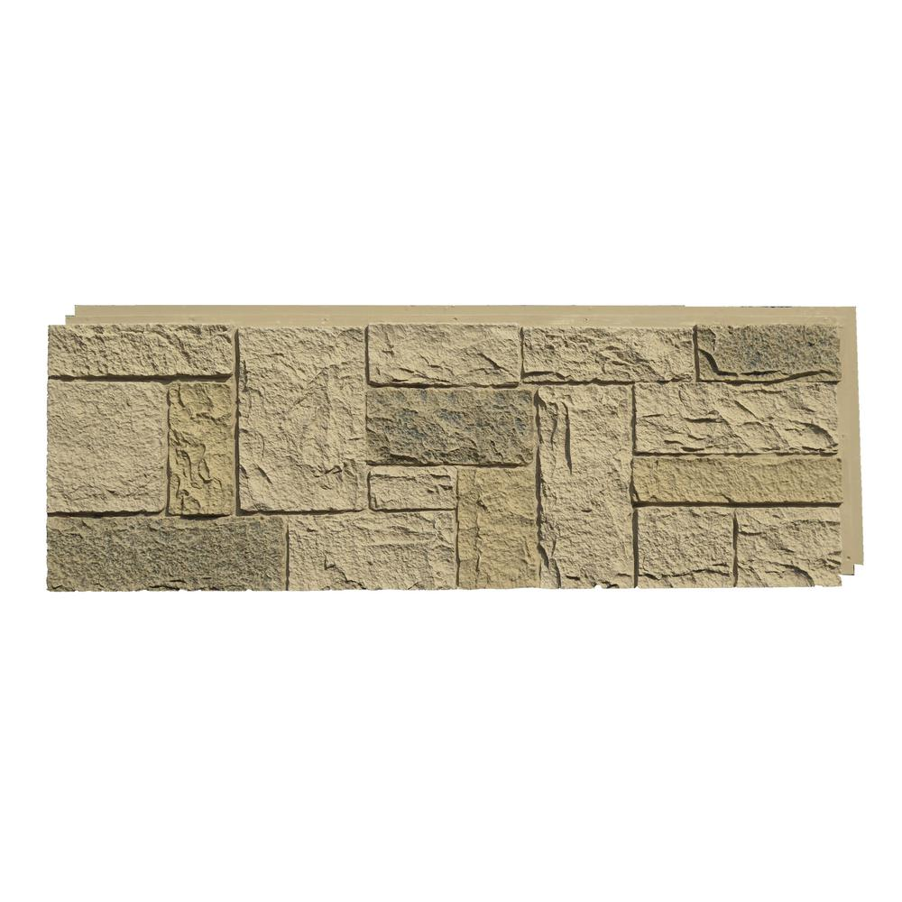 Polyurethane Stone Panels : Nextstone castle rock berkshire buff in faux