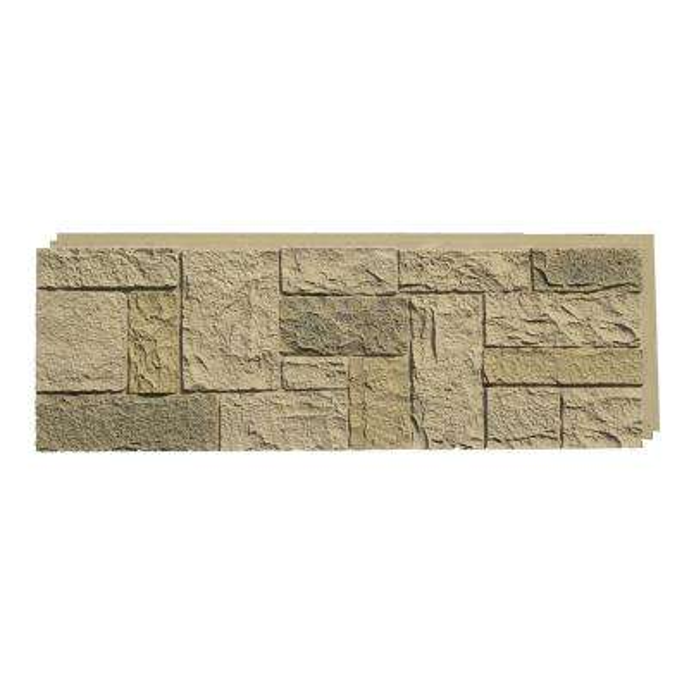 Castle Rock Berkshire Buff 15 in. x 43 in. Faux Stone Siding Panel (4-Pack)