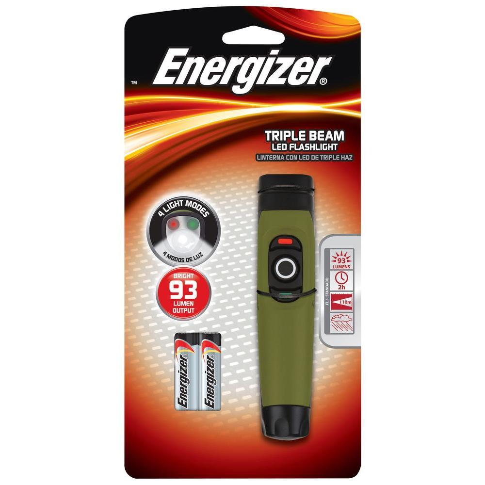 Energizer 2AA 93 Lumen Triple Beam Flashlight-DISCONTINUED