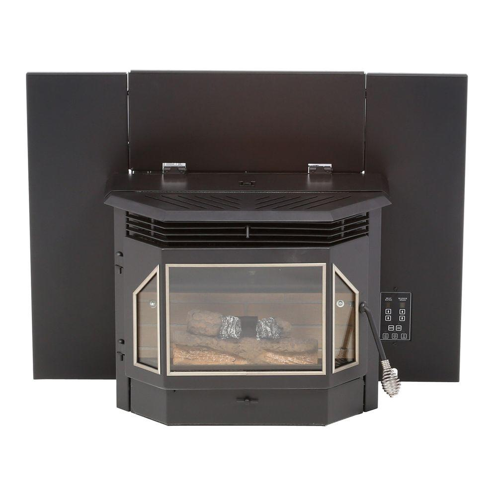 Maintain the look of your hallway or living space by choosing this Englander Pellet Burning Fireplace Insert. Offers durability.