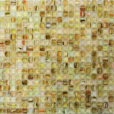 Breeze Pineapple Stained Glass Mosaic Wall Tile - 3 in. x 6 in. Tile Sample
