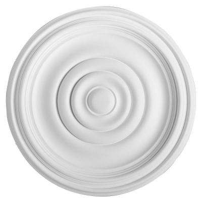 European Collection 14-15/16 in. x 1-3/8 in. Traditional Plain Polyurethane Ceiling Medallion